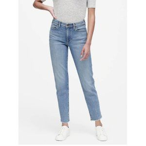 Banana Republic High-Rise Straight Leg Jeans